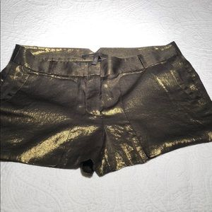 Night out gold shorts